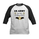 US Army Mom Freedom Kids Baseball Jersey