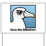 Save the Albatross (close-up) Yard Sign
