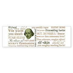 Shakespeare Insults T-shirts & Gifts Sticker (Bumper)