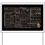 Shakespeare Insults T-shirts & Gifts Yard Sign
