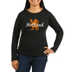 Holland Women's Long Sleeve Dark T-Shirt