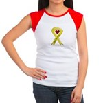Support our Troops Yellow Ribbon Women's Cap Sleev