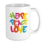 Hope Peace Love Large Mug