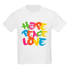 Hope Peace Love Kids Light T-Shirt