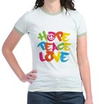 Hope Peace Love Jr. Ringer T-Shirt