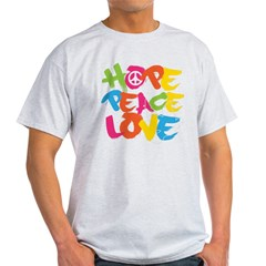 Hope Peace Love Light T-Shirt