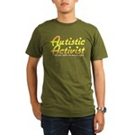 Autistic Activist (Gold) Organic Men's T-Shirt (da