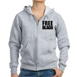 Free Illinois Governor Blagojevich, he's innocent! Women's Zip Hoodie