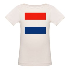 NL Dutch Flag Organic Baby T-Shirt