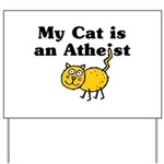 My Cat Is An Atheist Yard Sign