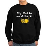 My Cat Is An Atheist Sweatshirt (dark)