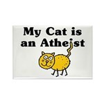 My Cat Is An Atheist Rectangle Magnet