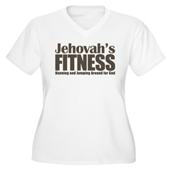 Jehovah's Fitness Women's Plus Size V-Neck T-Shirt