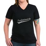 Perfetcionist Women's V-Neck Dark T-Shirt