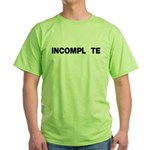 INCOMPL_TE Green T-Shirt