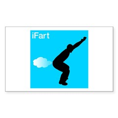 iFart Funny Spoof Sticker (Rectangle)