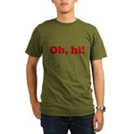 Oh, hi! Organic Men's T-Shirt (dark)