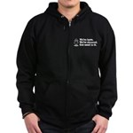 We're Here We're Sheared Get Used To It! Zip Hoodie (dark)
