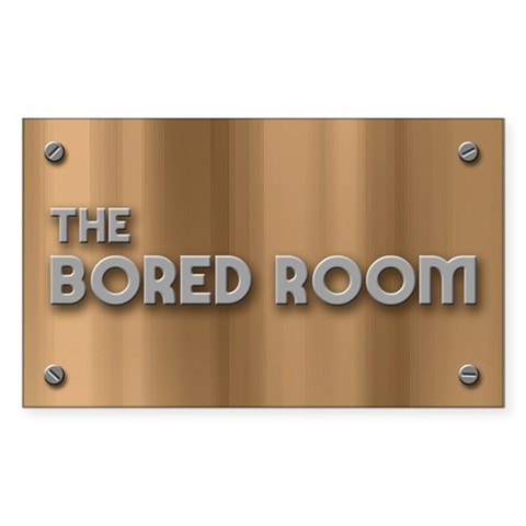 The Bored Room Rectangle Sticker