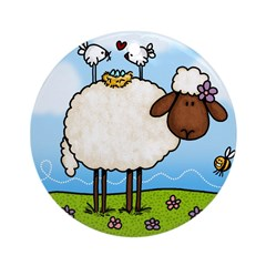 Spring Sheep Ornament (Round)