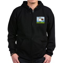 Spring Sheep Zip Hoodie (dark)