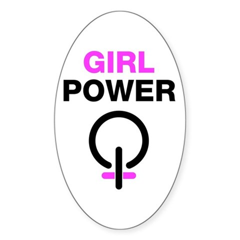 Girl Power Oval Sticker