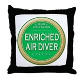 Certified Nitrox Diver Throw Pillow