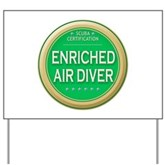 Certified Nitrox Diver Yard Sign