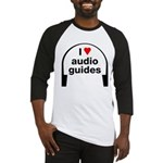 I Love Audio Guides Baseball Jersey