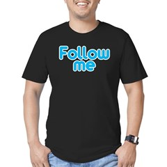 Follow Me Men's Fitted T-Shirt (dark)