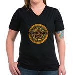 Astrological Sign Women's V-Neck Dark T-Shirt