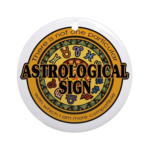 Astrological Sign Ornament (Round)