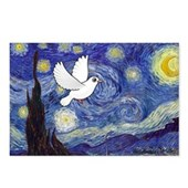 Starry Dove Postcards (Package of 8)