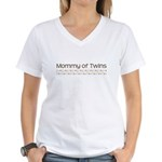 Mommy of Twins Women's V-Neck T-Shirt