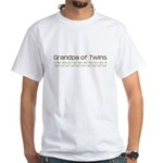 Grandpa of Twins White T-Shirt