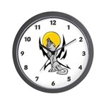Howling Wolf Tattoo Wall Clock