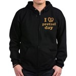 I Pretzel Pretzel Day Zip Hoodie (dark)