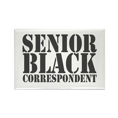 Senior Black Correspondent Rectangle Magnet