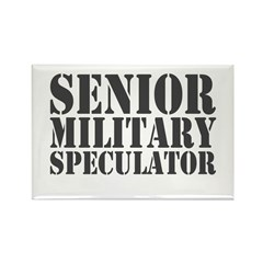 Senior Military Speculator Rectangle Magnet