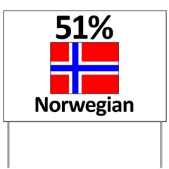 51% Norwegian Yard Sign
