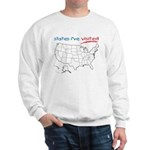States I've Been To Sweatshirt