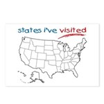 States I've Been To Postcards (Package of 8)