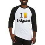 I Love Belgium (Beer) Baseball Jersey