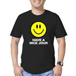 Have a Nice Jour Men's Fitted T-Shirt (dark)