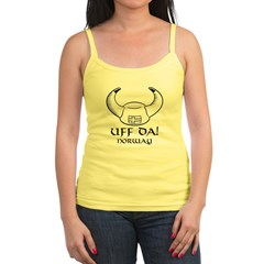 Uff Da! Norway Viking Hat (B&W) Jr. Spaghetti Tank