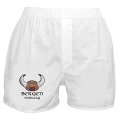 Bergen Norway Viking Hat (color) Boxer Shorts