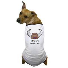 Oslo Norway Viking Hat (color) Dog T-Shirt