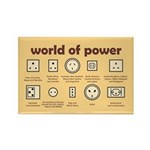 World of Power Rectangle Magnet