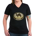 Egyptian Camel Women's V-Neck Dark T-Shirt