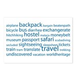 Travel Tag Cloud Postcards (Package of 8)